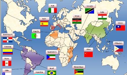 Mapa AM english
