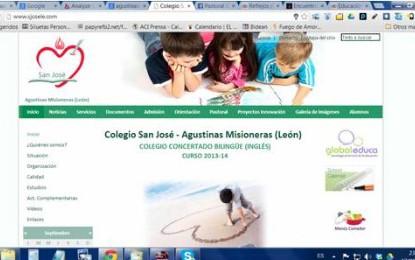 Web Colegio San José-León
