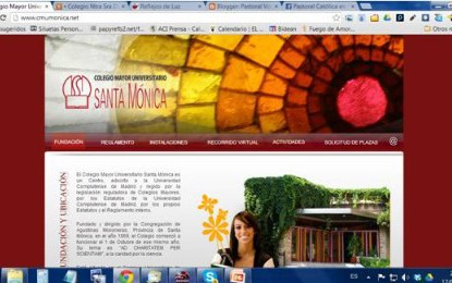 Web Colegio Mayor Santa Mónica
