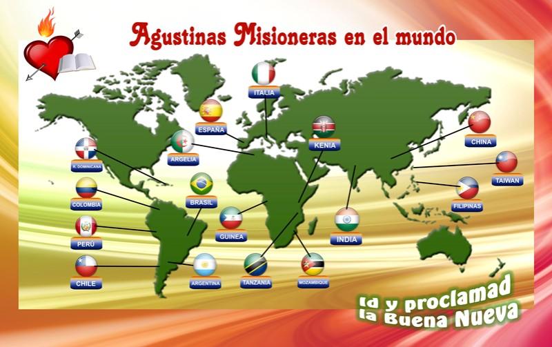 mapa agustinas misioneras
